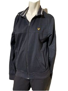 Vintage Lyle and Scott Vintage Bomber Style Jacket Black With Yellow Trim.