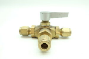 Gould Imperial Eastman 3-way Manual Brass Ball Valve 3/8in Tube