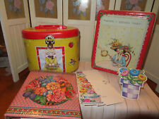 New Listingmary engelbreit tin lunch sewing boxes-other