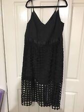 City Chic Caged Midi Dress Size M Black