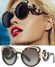 PRADA Minimal Baroque SPR 07TS Black Havana & Gold Sunglasses NIB Authentic $720