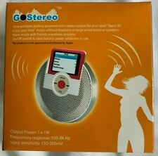 iPOD NANO 3G - GO STEREO - DOCKING SPEAKER  *  500 - 8K Hz * 150 - 300mV  *  NEW