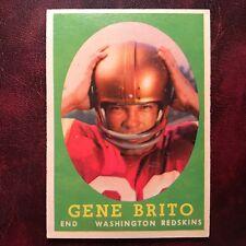 1958 Topps Set GENE BRITO #113 WASHINGTON REDSKINS LOYOLA - VG-EX
