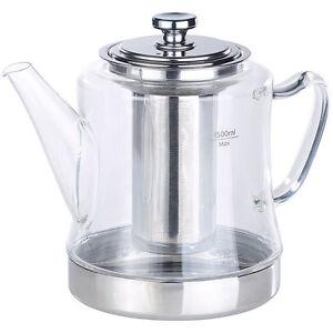 2in1-Glas-Teebereiter & Teekanne für alle Herde, auch Induktion, 1,5 l