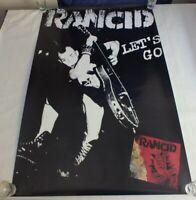 Rancid Let's Go Poster 1995 Original Punk Rock Poster  Lars Frederiksen