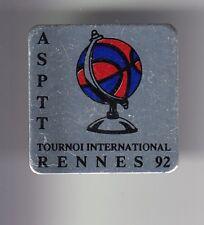 RARE PINS PIN'S .. PTT LA POSTE FRANCE TELECOM ASPTT 92 BASKET BALL RENNES 35~DQ