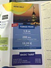 Lifecell Turkcell Türkei İnternet 1,5 GB 200 Min. in alle Deutsche&Türkische Net