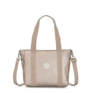 Kipling Small Tote Bag ASSENI S w Should Strap METALLIC GLOW SS20 RRP £77