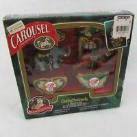 Mr Christmas Circus Animals Christmas Carousel Ornaments Elephant & Tiger 1993