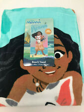 "Disney Princess Moana Beach Towel 100% Cotton 28""x58"" NWT"