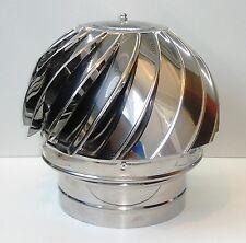 Chapeau de Cheminée Rotatif Fileur Capot Turbowent ACIER INOXYDABLE 100-350mm