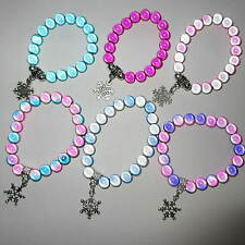 Wholesale 10 Disney Frozen Inspired Bracelets With Snowflake Charms Present