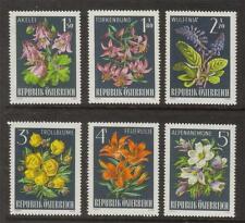 AUSTRIA MNH 1966 SG1471-1476 ALPINE FLORA SET OF 6