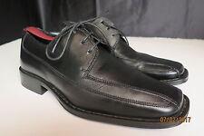 Alfani Freeway Bike Toe Comfort Shoes Men's 7.5 M  Black Leather Casual Lace Up