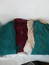 Landau Scrub Pants 4 Pieces 2 Green 1 Tan 1 Burgundy 2Xl Adj Waist inseam 27 in