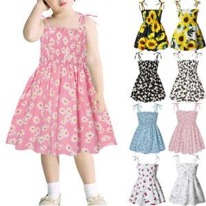 Toddler Kids Baby Girls Summer Sleeveless Daisy Slip Dress Floral Beach Dress