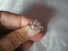 Cruzerio Rubellite ring, size N/O, 0.04 carats, in 1.93 grams 925 Sterling Silve