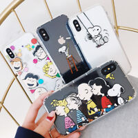 Cute Cartoon Animals Snoopy TPU Silicone Phone Case Cover For iPhone X 8 7 6/6S