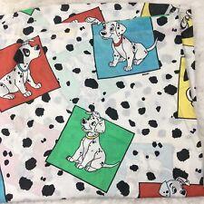 "Vintage 101 Dalmations Kids Disney Flat Bed Fabric Sheet 66"" x 92"""