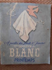 CATALOGUE DE BLANC AU PRINTEMPS - 71ème EXPOSITION