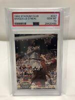 1992-93 TOPPS STADIUM CLUB SHAQUILLE O'NEAL SHAQ ROOKIE CARD PSA 10