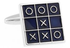 Tic Tac Toe Cufflinks Game Father Groom Wedding Fancy Gift Box Free Ship USA