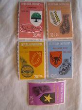 Indonesia Stamp Set 1965 Scott B182 - B186 SP67 Mint MNH States