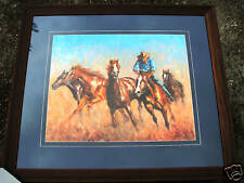 Craig Taylor Original Oil titled 'Rounding up the Strays'  Australian West