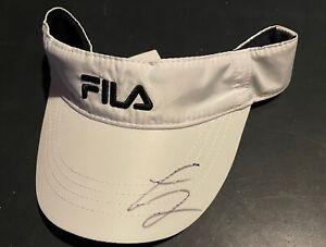 Diego Schwartzman signed FILA Men's Tennis Visor With Proof