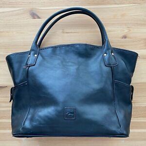 DOONEY & BOURKE Black Leather Satchel Purse Bag