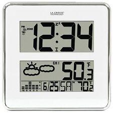 512-811-BBB La Crosse Technology Atomic Digital Wall Clock with W186-D Sensor
