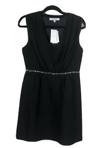 LK Bennett Bnwt Black Size 12 Dress With Silver Beaded Detail