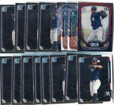 (48) 2015 Bowman Luis Severino - 12 Chrome, 32 Base... - New York Yankees!!!!