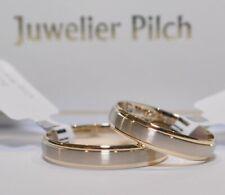Ein Paar Gold 585 Trauringe Eheringe Bicolor Gelb- / Weißgold Poliert / Matt