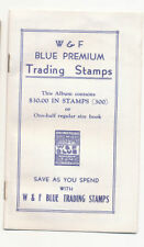 15 - W&F BLUE TRADING STAMPS BOOK, WELLS & FROST, LINCOLN NEBRASKA
