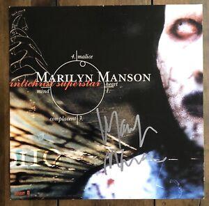 Marilyn Manson Signed Antichrist Superstar Promo Poster Flat PROOF Beckett COA