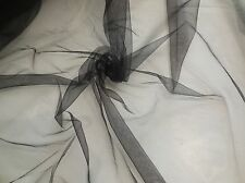 black soft tulle fabric evening dress sewing DIY in 150cm wide Sold per 0.5Meter