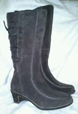 VERY STYLISH LADIES DARK BROWN SUEDE CLARKS KNEE HIGH BOOTS BNWT SIZE 5.5E