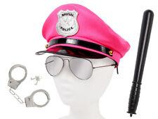 Polizei Kostüm (KV-112) Polizeimütze, Pilotenbrille, Handschellen, Schlagstock