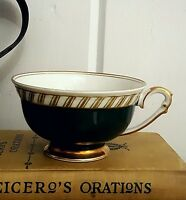 VTG Franconia Krautheim Bavaria Forest Green/Gold Gilt German Porcelain Tea Cup