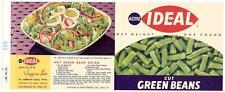 Wholesale Dealer's Lot 100 Acme Ideal Green Beans Can Labels Philadelphia, Pa.