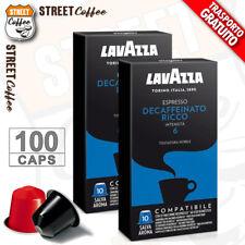 100 Cialde Capsule Caffè Lavazza comp. Nespresso Decaffeinato Ricco Dek gratis