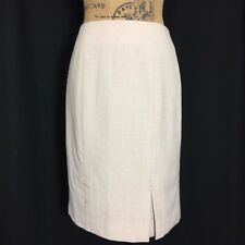 White House Black Market 2 S Skirt Ivory Brown Plaid Pencil Kick Slit Detail $88