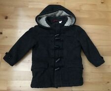 Boys GAP Charcoal Grey Woolen Duffle Coat - 5 Years