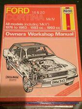 Haynes Manual 343 Ford Cortina 1.6 & 2.0 1976 to 1983. all models including MKV
