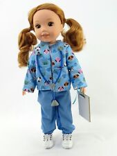 """Blue Vet Scrubs Outfit Fits Wellie Wishers 14.5"""" American Girl Clothes"""