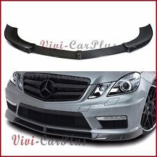 V Type 3K Carbon Fiber Front Bumper Spoiler For 11-14 W212 E63AMG Sdean Body Lip
