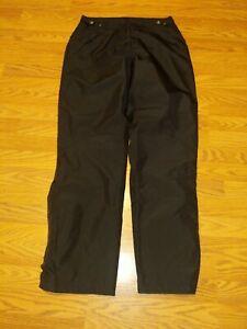 Womens SUNICE Rain Pants Medium Black MSRP $175 6452