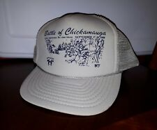 Battle of Chickamauga Vintage Trucker Cap Snap Back Used Hat  READ SEE PICS
