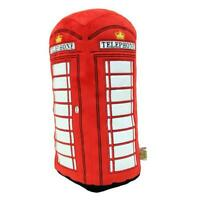 London Red Telephone Box Plush Cushion (HRD-PHO)